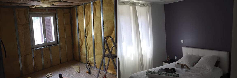 Isolation et revêtement chambre